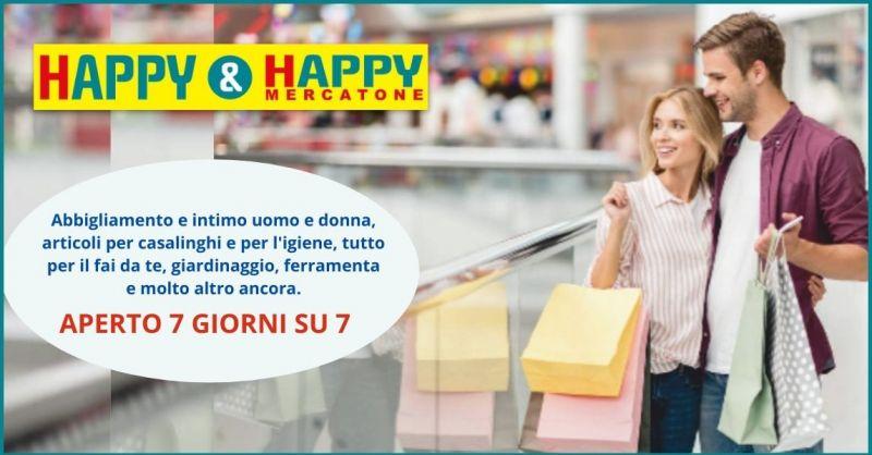 offerta negozio abbigliamento e articoli per la casa sempre aperto Versilia - HAPPY & HAPPY
