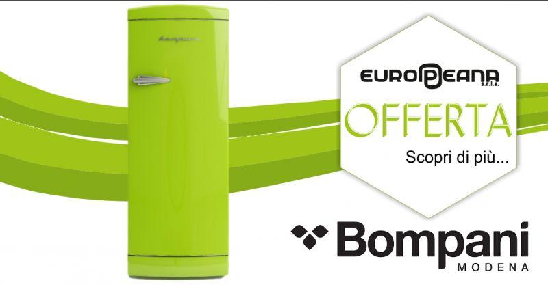 EUROPEANA Alghero - promozione frigorifero retro Bompani color lime modello bomp105v