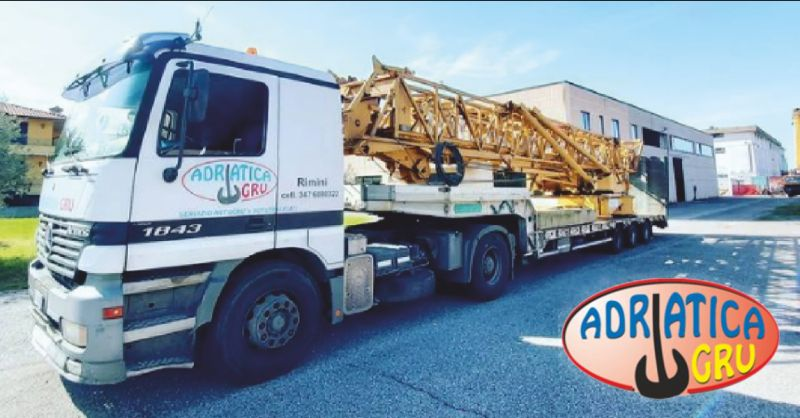 adriatica gru offerta noleggio camion gru - occasione autotrasporto con rimorchio rimini