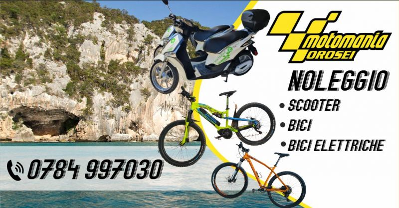 MOTOMANIA - offerta noleggio scooter biciclette elettriche con pedalata assistita