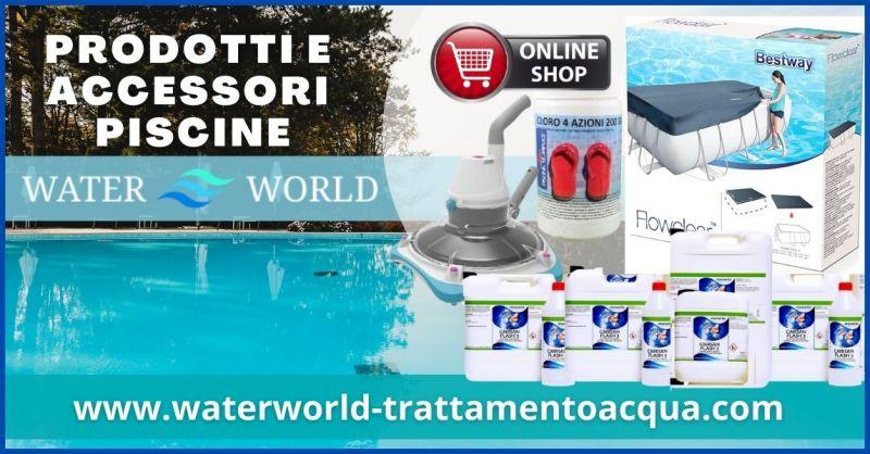 promozione prodotti on line per la pulizia e manutenzione piscine  – WATERWORLD TRATTAMENTO ACQUA
