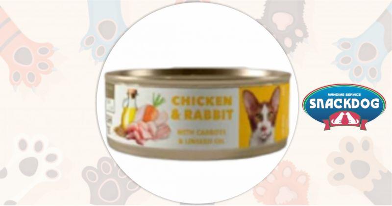 Snack Dog - offerta Patè fresco Amity gatto steril. 80 gr. x 24 pollo e coniglio