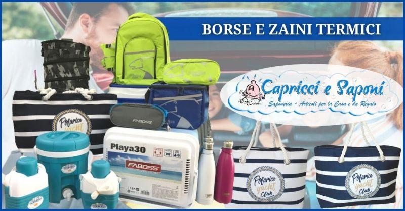 promozione borse e zaini frigo anche con presa elettrica Versilia - CAPRICCI E SAPONI