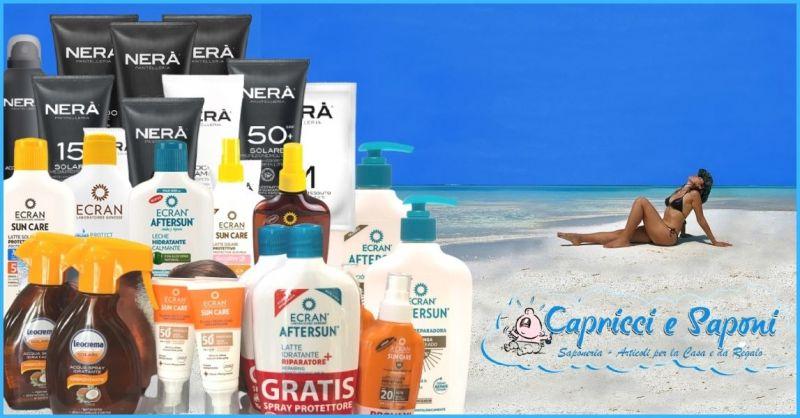 promozione prodotti e creme solari - offerte creme e bagnodoccia doposole