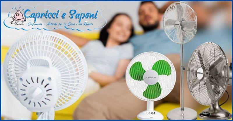 promozione ventilatori piantana e portatili - occasione negozio casalinghi Versilia e Lucca