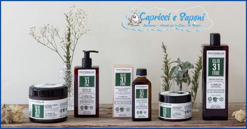 offerta OLIO 31 ERBE per la cura della pelle con oli ed estratti naturali Lucca - CAPRICCI E SAPONI