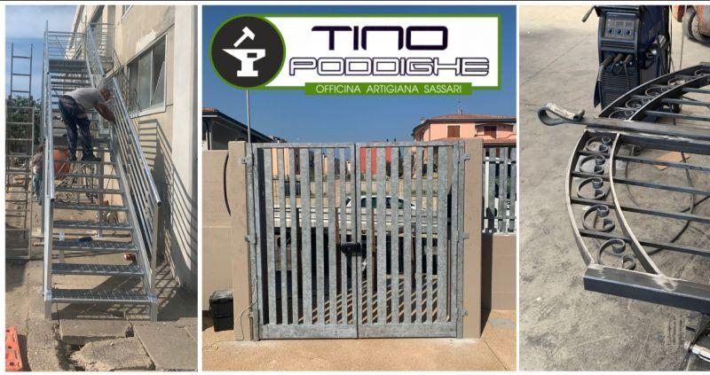 TINO PODDIGHE SASSARI -  offerta fabbro esperto per lavorazioni artigianali civili industriali