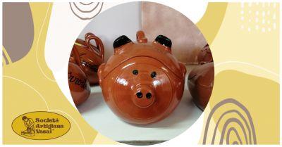 artigiana vasai occasione vendita online maialino in terracotta per cibi al forno