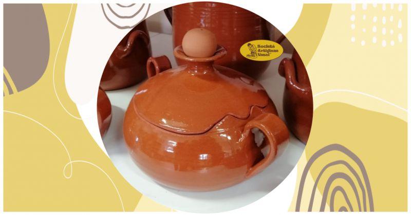offerta vendita vaporiera in terracotta artigianale - promozione tegame in terracotta cottura al vapore