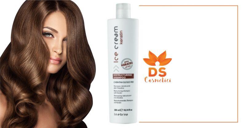 DS Cosmetici - offerta Inebrya Ice Cream Keratin shampoo ristrutturante alla cheratina 300ml