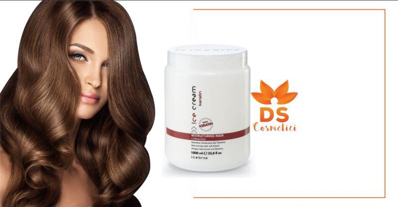 DS Cosmetici - offerta Inebrya Ice Cream Keratin maschera ristrutturante alla cheratina 1000ml
