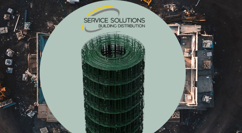 SERVICE SOLUTIONS vendita materiale edile – offerta vendita rete elettrosaldata plastificata per recinzioni