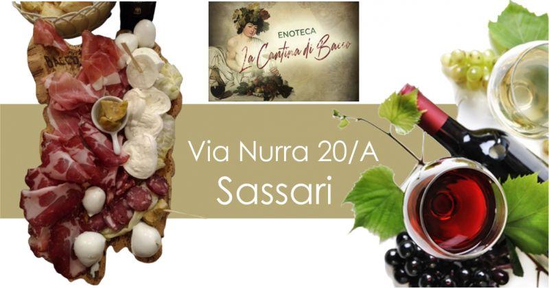 LA CANTINA DI BACCO - offerta degustazione vini sardi con ricco tagliere di salumi e formaggi