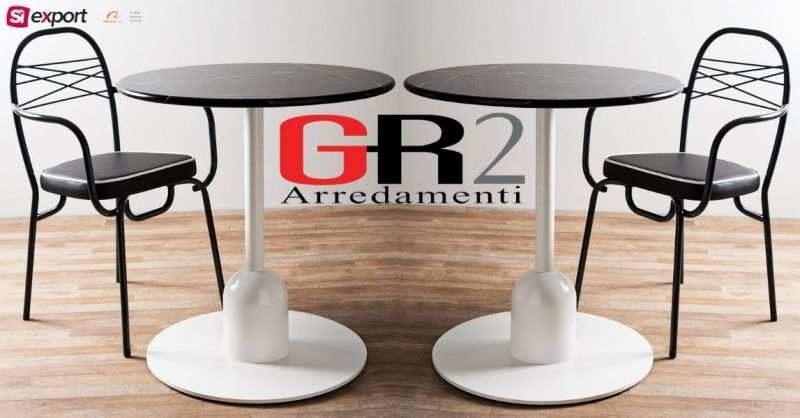 Occasione vendita tavolino da bar in laminato stratificato CEZANNE 100% made in Italy