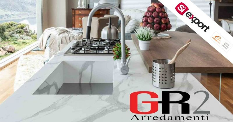 Occasione vendita piano di lavoro da cucina in laminato CALACATTA di alta qualità made in Italy