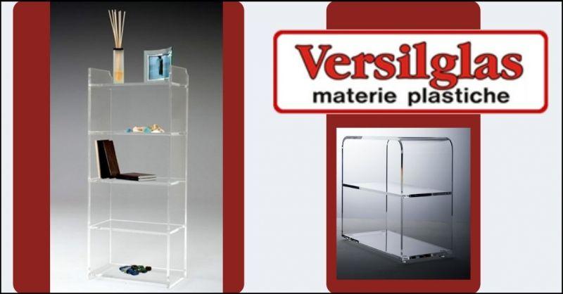 occasione librerie e mensole in plexiglas per casa - offerta librerie trasparenti casa Versilia