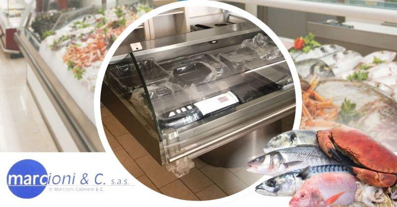 Offerta vendita online banco frigo usato per il pesce - Occasione acquisto banco frigo pescheria usato