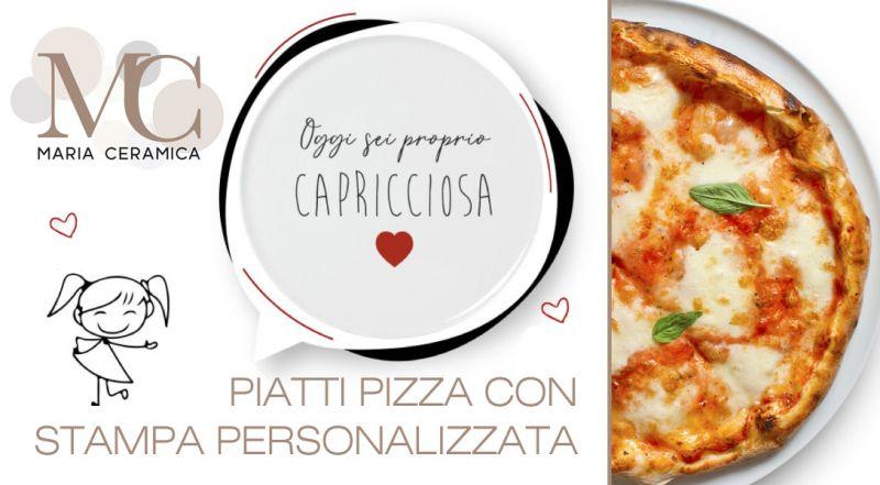 Offerta stampa personalizzata su piatti pizza napoli - promozione piatti in ceramica personalizzati reggio calabria