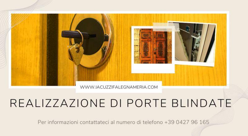 Offerta produzione di porte blindate su misura a Pordenone – occasione Portone d'ingresso blindato in legno intarsiato a mano Pordenone