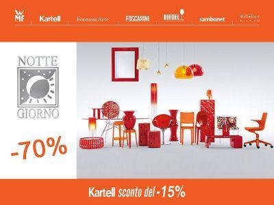 offerta vendita promozionale arredo design promozione kartell nottegiorno