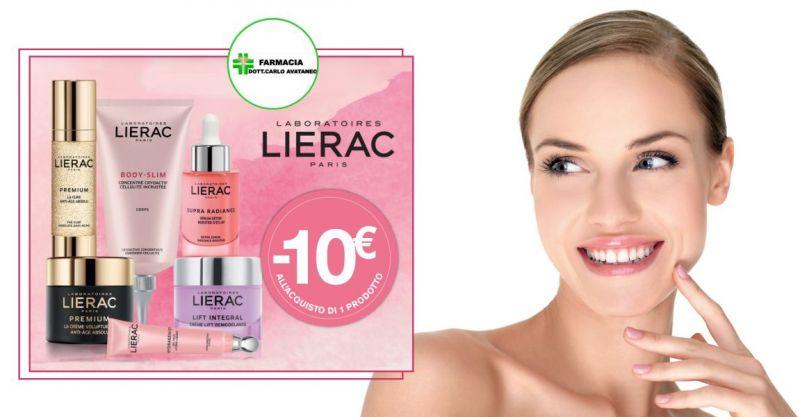 FARMACIA CARLO AVATANEO SELARGIUS - promozione prodotti  Lierac Novembre 2019 meno 10 euro