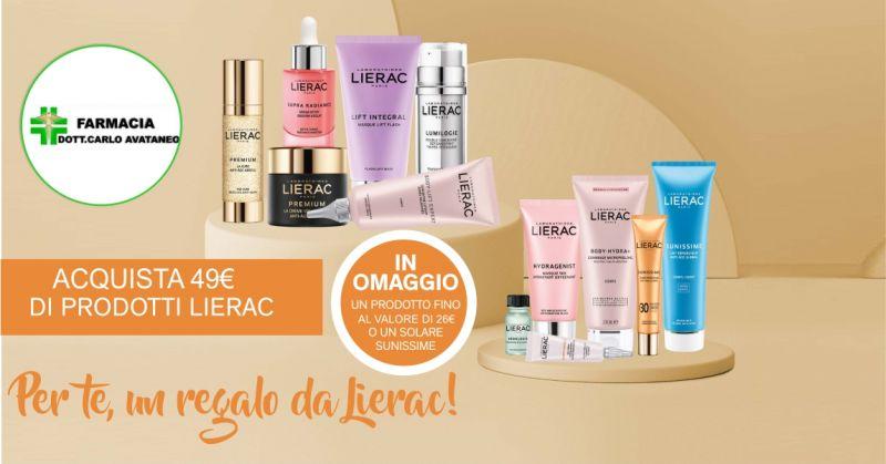 FARMACIA CARLO AVATANEO SELARGIUS - promozione prodotti Lierac omaggio Sunissime