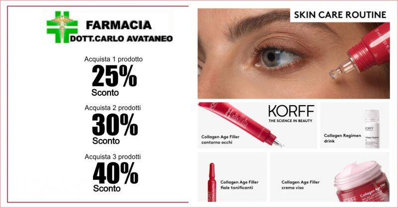 FARMACIA CARLO AVATANEO - promozione trattamento collagen age filler Korff
