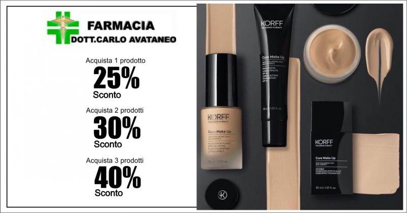FARMACIA CARLO AVATANEO - promozione fondotinta invisibile Korff
