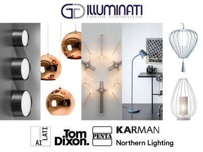 offerta lampade penta e karman promozione lampade northen light e tom dixon e ai lati lights