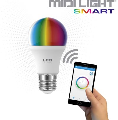 lampadine led rgb midi light smart di greenplux