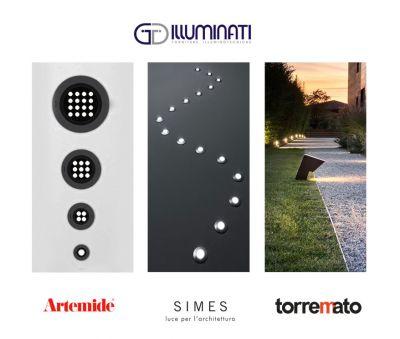 offerta consulenza illuminazione outdoor lampade esterni artemide simes torremato