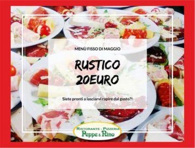 offerta maggio promozione menu fisso ristorante peppe e nino