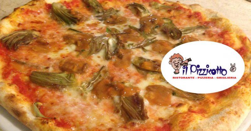 PIZZERIA IL PIZZICOTTO2 SANT ORSOLA - offerta pizza condita con carciofi freschi di stagione