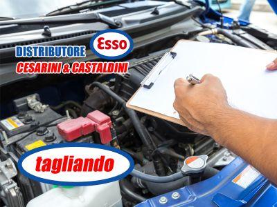 offerta tagliando auto promozione cambio olio e filtrii distributore esso cesarini