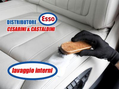 offerta lavaggio tappezzeria auto promozione distributore esso terni distributore esso cesarini