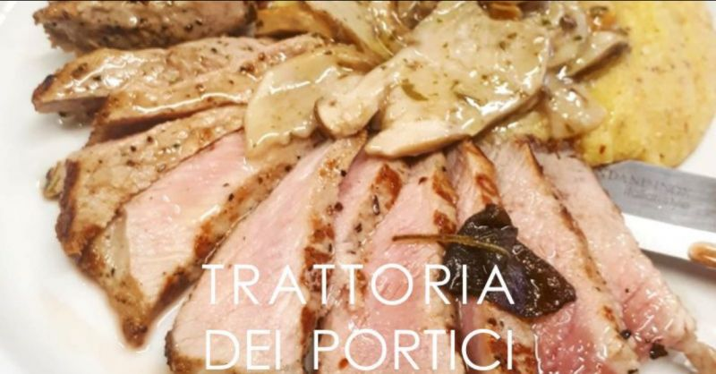 TRATTORIA DEI PORTICI offerta menu degustazione polenta taragna - menu prezzo fisso clusone