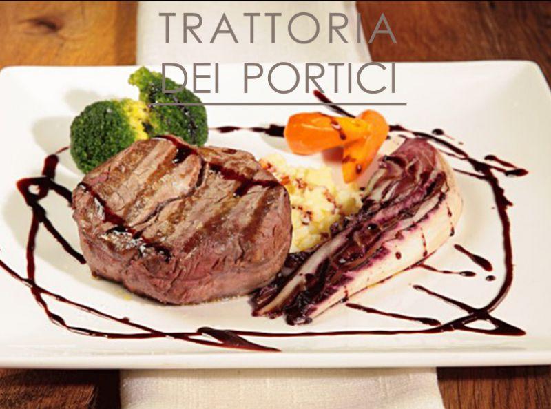 TRATTORIA DEI PORTICI offerta menu tagliata di manzo irlandese - menu di carne clusone