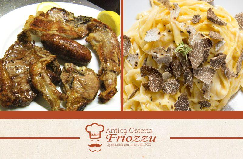 offerta specialita carne alla brace - promozione specialita tipica tartufo - osteria friozzu