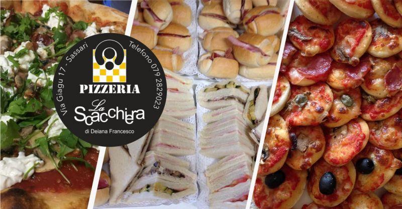 PIZZERIA LA SCACCHIERA - offerta buffet servizio catering per feste consegna a domicilio