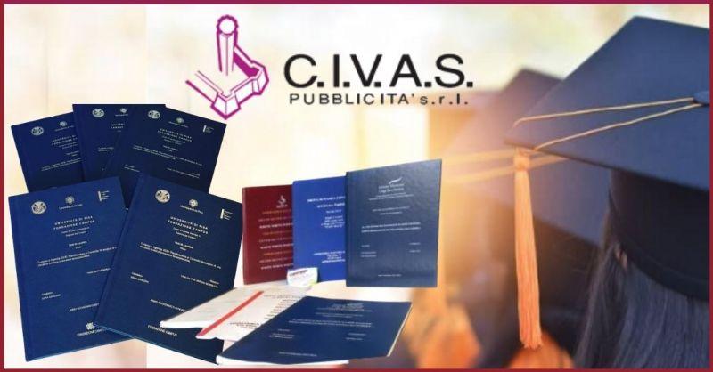 C.V.A.S. PUBBLICITA' - occasione stampa e rilegature tesi di laurea