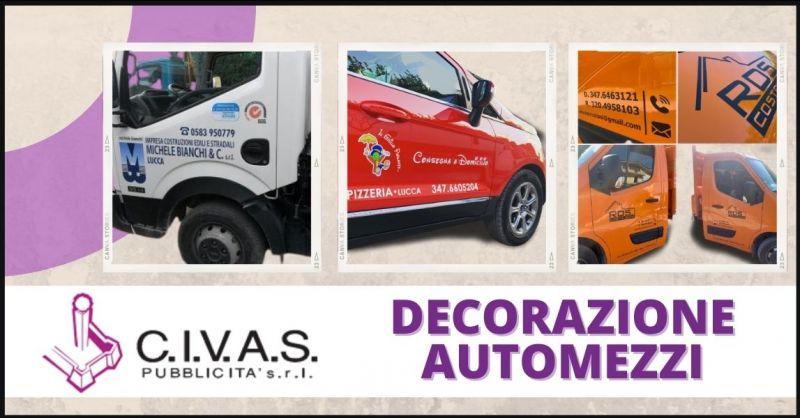 offerta decorazione e pubblicità automezzi -  CIVAS PUBBLICITA'