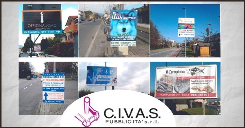 CIVAS PUBBLICITA - promozione agenzia pubblicitaria e cartellonistica stradale Lucca