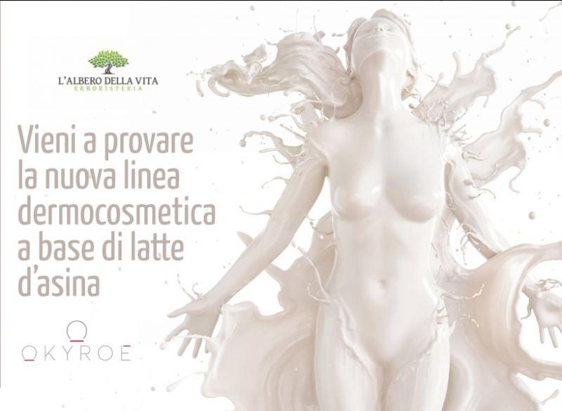 L ALBERO DELLA VITA offerta linea dermocosmetica a base di latte d asina - promozione okyroe