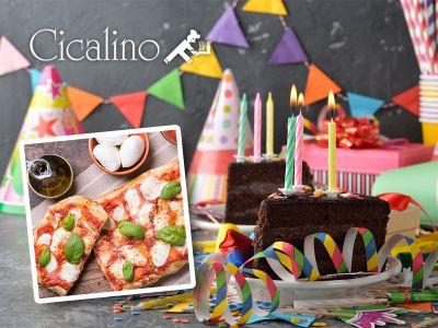 offerta sala per compleanni promozione cene compleanno pizzeria ristorante cicalino