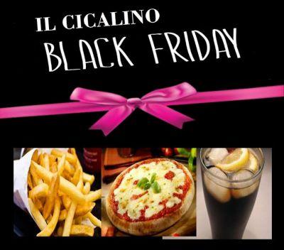 offerta cena pizza patatine bevanda promozione black friday cicalino