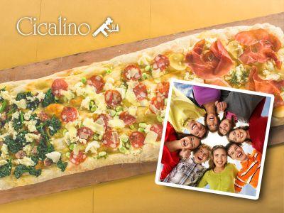 offerta pizza al metro cicalino pizzeria menu comitiva pizza al metro