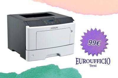 offerta stampante laser lexmark promozione lexmark ms312dn euroufficio terni