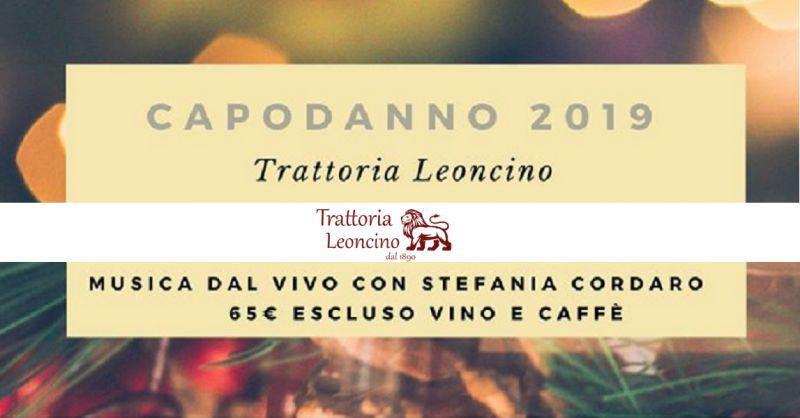 Trattoria Leoncino - Offerta cena speciale di capodanno 2019 con musica dal vivo a Vicenza