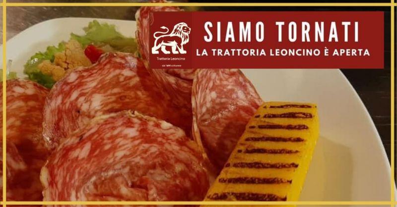 TRATTORIA LEONCINO - Offerta ristorante degustazione specialità gastronomiche filetto di maiale