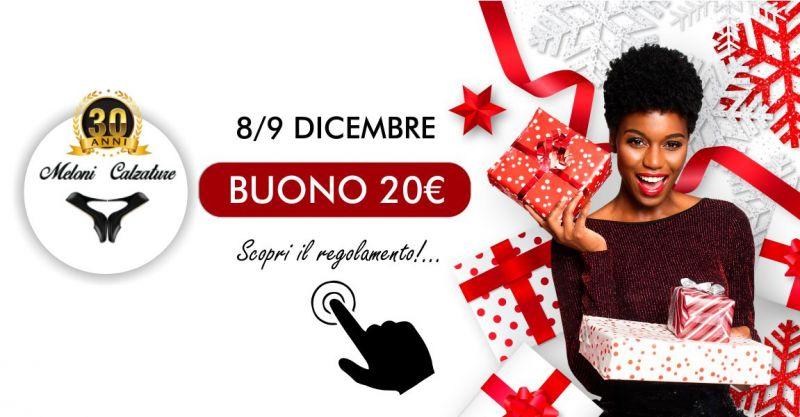 Meloni Calzature  - offerta buono acquisto 20 euro regali natalizi